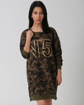 Relaxed Camouflage Dress