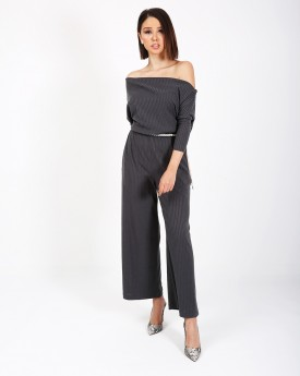 One Shoulder Waisted Jumpsuit