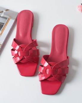 Fuchsia Strappy Leather Sandal