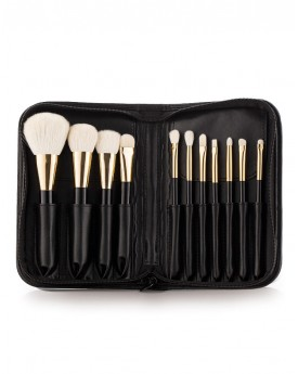 11 Set Of Makeup Brushes with pouch
