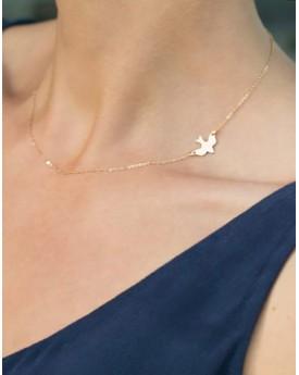 Bird Side Pendant Necklace