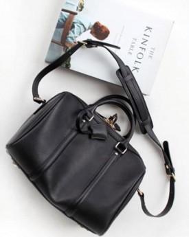 Duffel Black Bag with Lock
