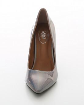 Grey Patent Court Shoe
