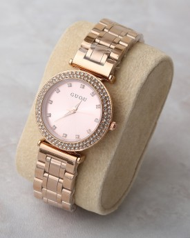 Rose Gold Chunky Embellished Watch