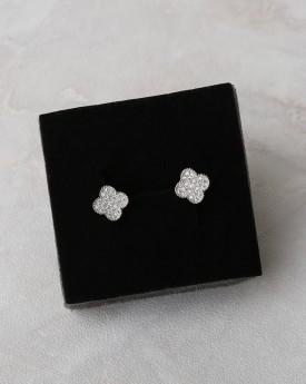 Flower Faux Diamonds Earring