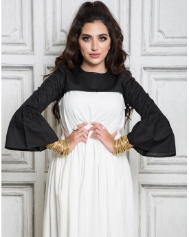 Black Half Top With Frill Sleeves