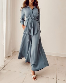 Buttons up shirt with culottes trousers