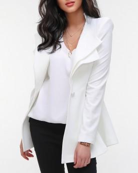 Wide Shoulder Jacket in White