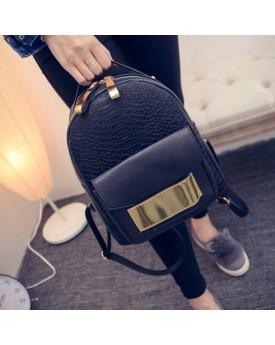 Croc Backpack With Gold Belt
