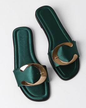 Green Slider With Golden Buckle