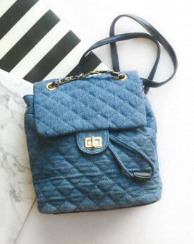 Quilted Denim Backpack