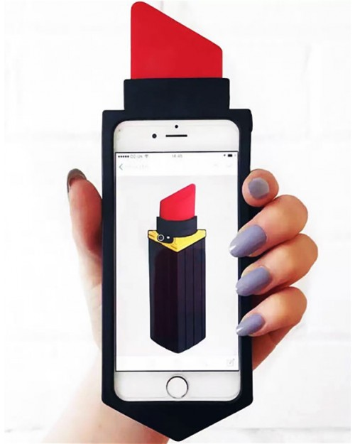 3D Red Lipstick iPhone 6 & 6 Plus Cover