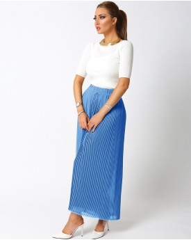 Chiffon Pleated Culottes Trousers