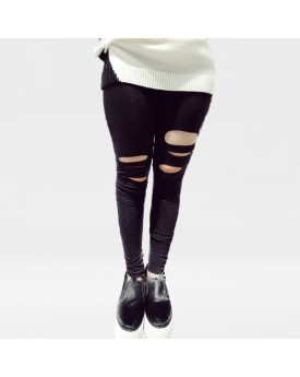 Black Leggings with Rips