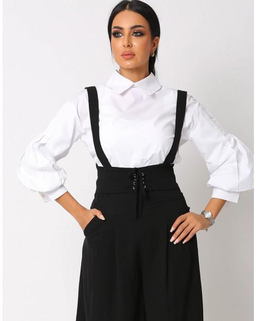 Buffed sleeves White Shirt