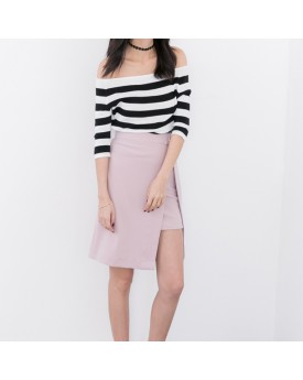 Double Layer Skirt with Belt