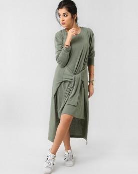 Hi Low Tie Front Dress