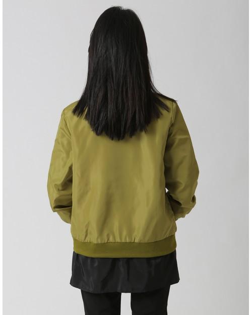 Khaki Jacket with Black Contrast