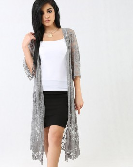 Long Lace Cardigan