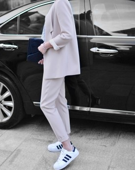 Tailored Blazer with Peg Trousers