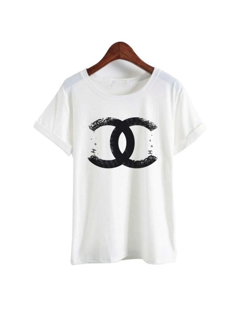 release date: fee72 679be Chanel Logo T-shirt