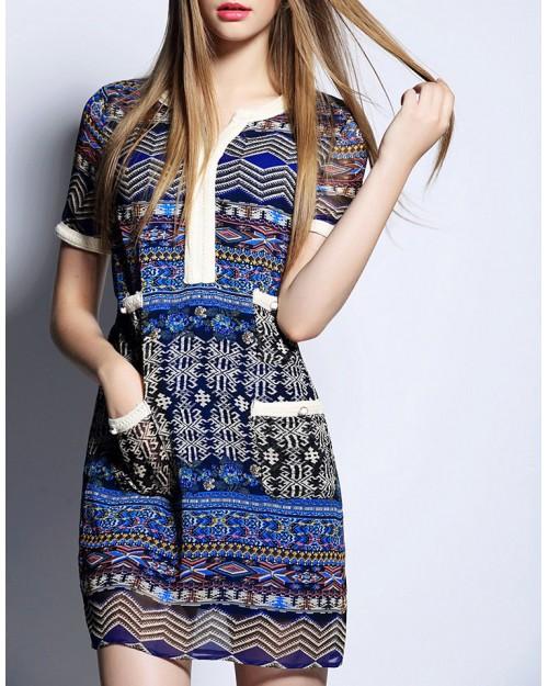 Printed Tea Dress