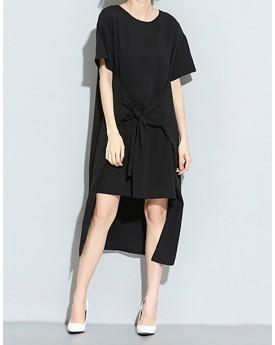 Hi Lo Tie Front T-Shirt Dress
