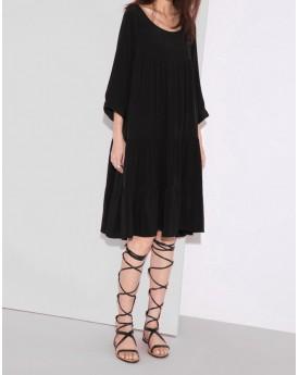 Frill Trims Short Dress